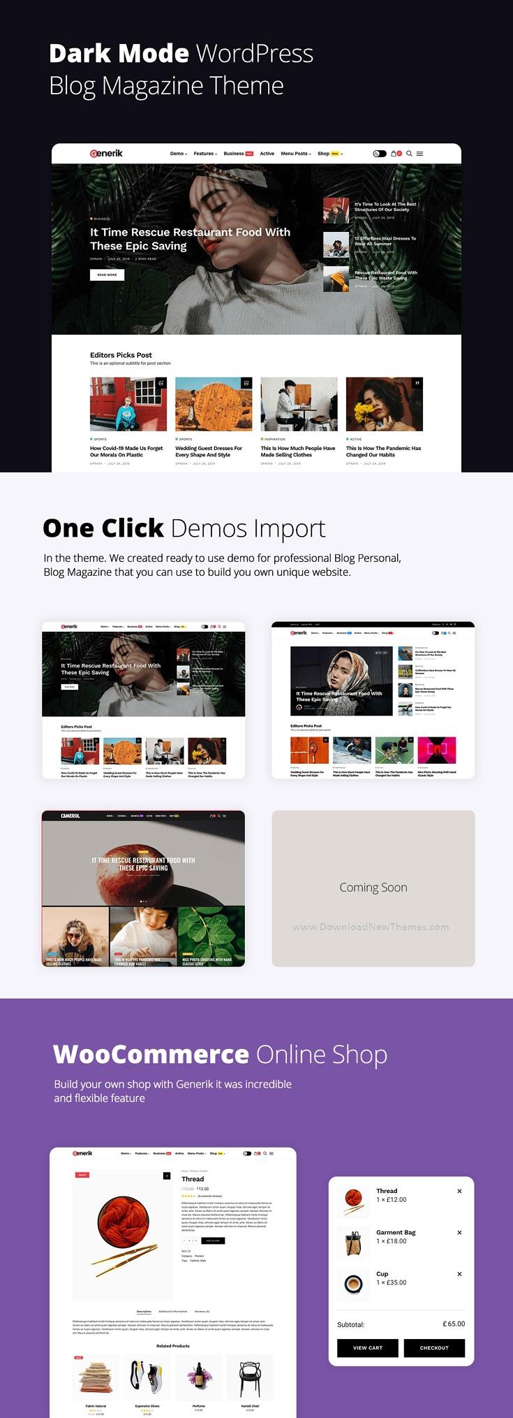 Multipurpose WordPress Blog Magazine Theme