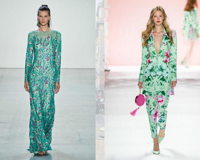 Бискайский зеленый модные цвета весна-лето 2020 2