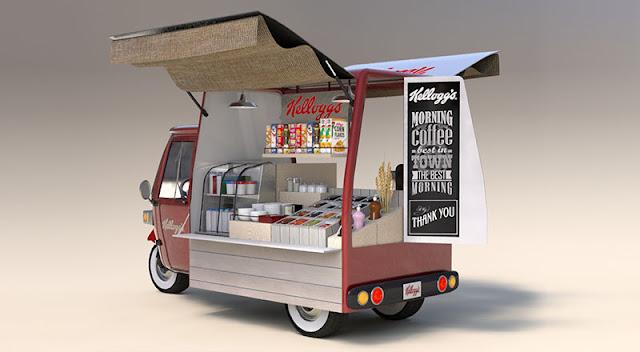 عربة متنقلة-اطعمة متنقلة-فود ترك