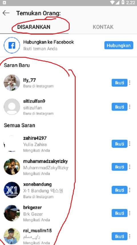 Mengetahui Followers yang Disarankan di Instagram