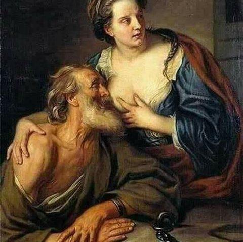 Lukisan ini menceritakan Pero (Putri) dan Simon (Ayah).