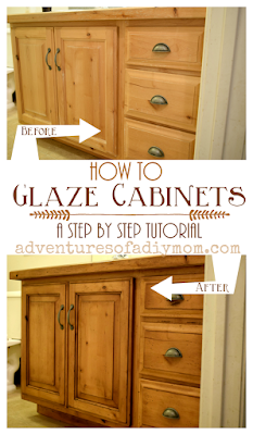 How to Glaze Cabinets - A Step by Step Tutorial