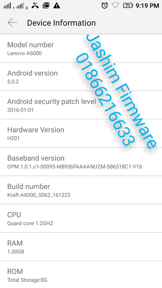 Lenovo A6000 Official Stock Firmware Rom MSM8916 Cm2 Read