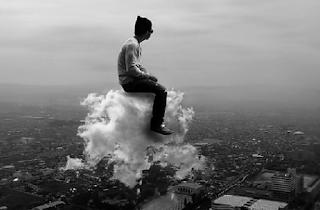 Homme sur nuage