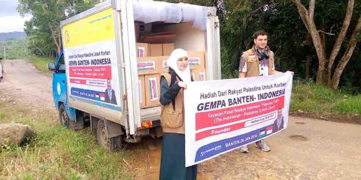 Bantuan Rakyat Palestina Untuk Korban Gempa Banten