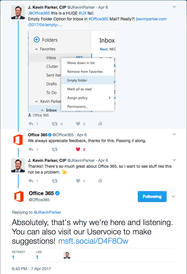 Twitter exchange
