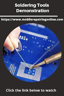 get familiarity with soldering tools and methods of smartphone repairing
