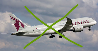 Espacio aéreo restringido para Qatar Air