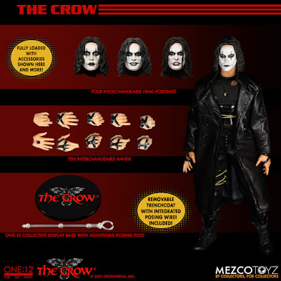 The Crow One:12 Collective Action Figure by Mezco Toyz