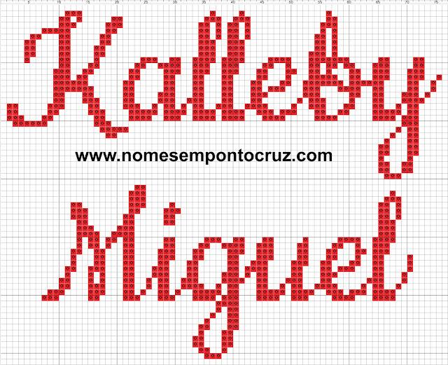 Nome Kalleby Miguel em Ponto Cruz
