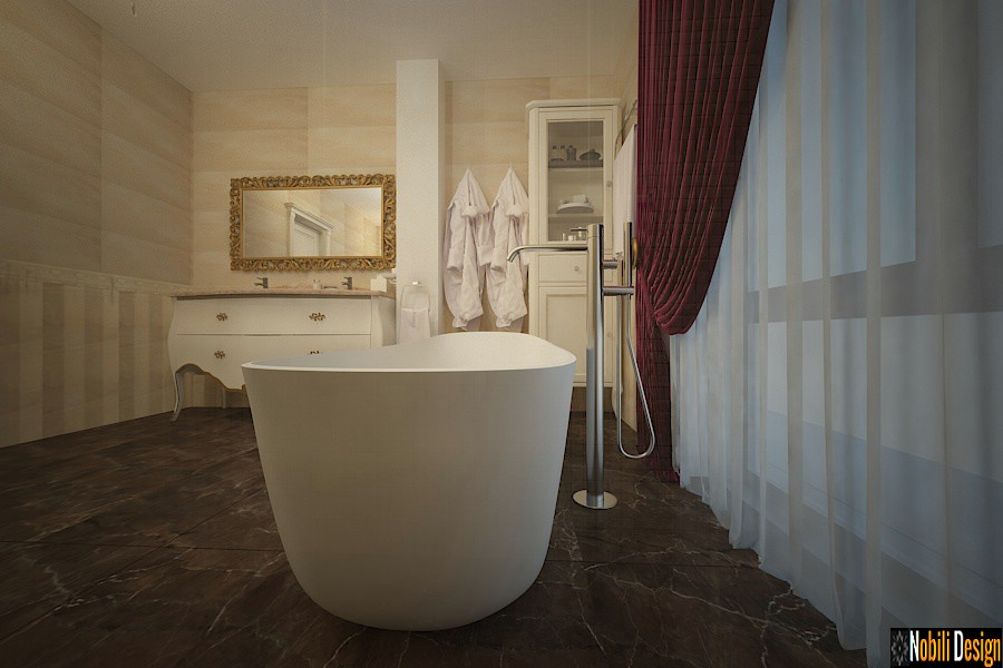 Design interior baie casa Bucuresti - Amenajare baie casa de lux