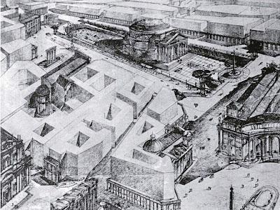 Pantheon sventramenti progetto Brasini