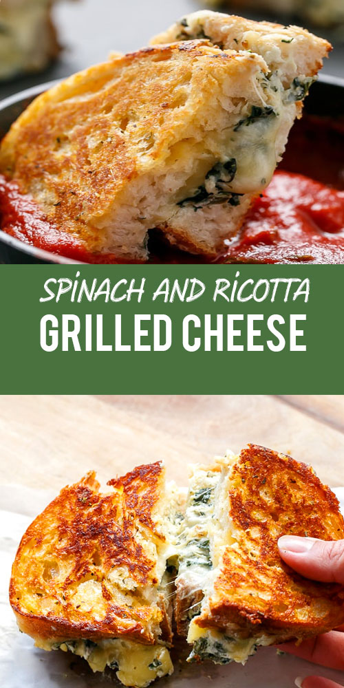 Easy Spinach and Ricotta Grilled Cheese