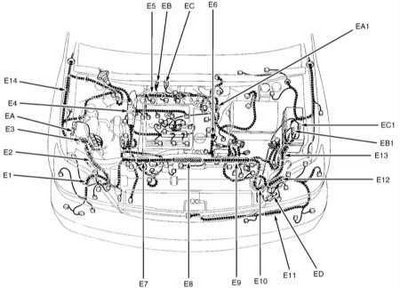 Wiring diagram electric joints Lexus RX300 ~ Guide