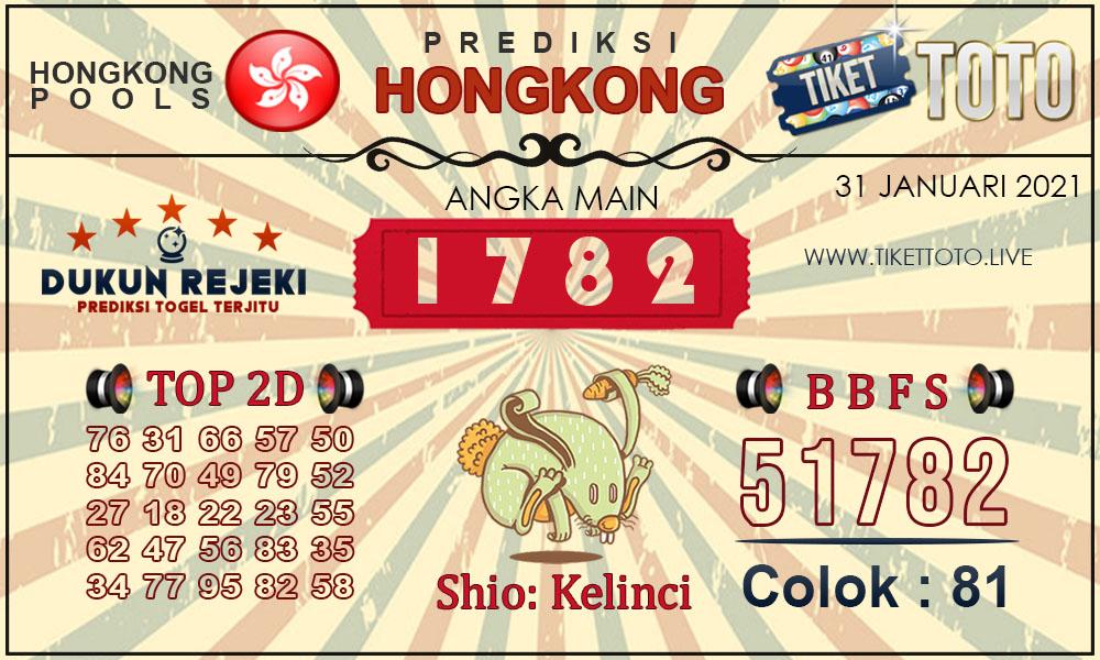 Prediksi Togel HONGKONG TIKETTOTO 31 JANUARI 2021