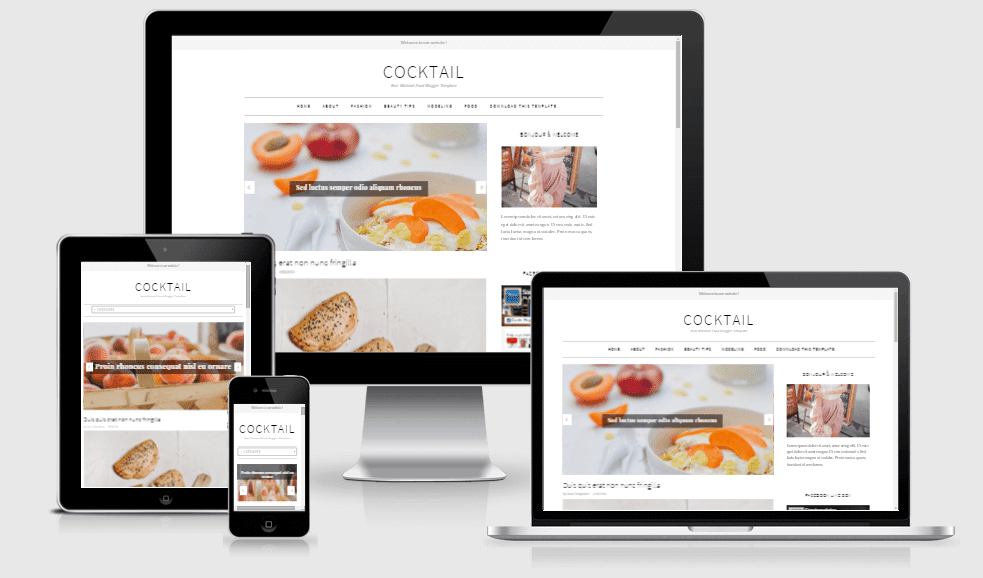 CockTail - Responsive News/Magazine Blogger Template