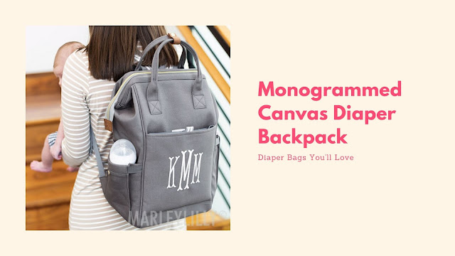 baby diaper backpack in gray