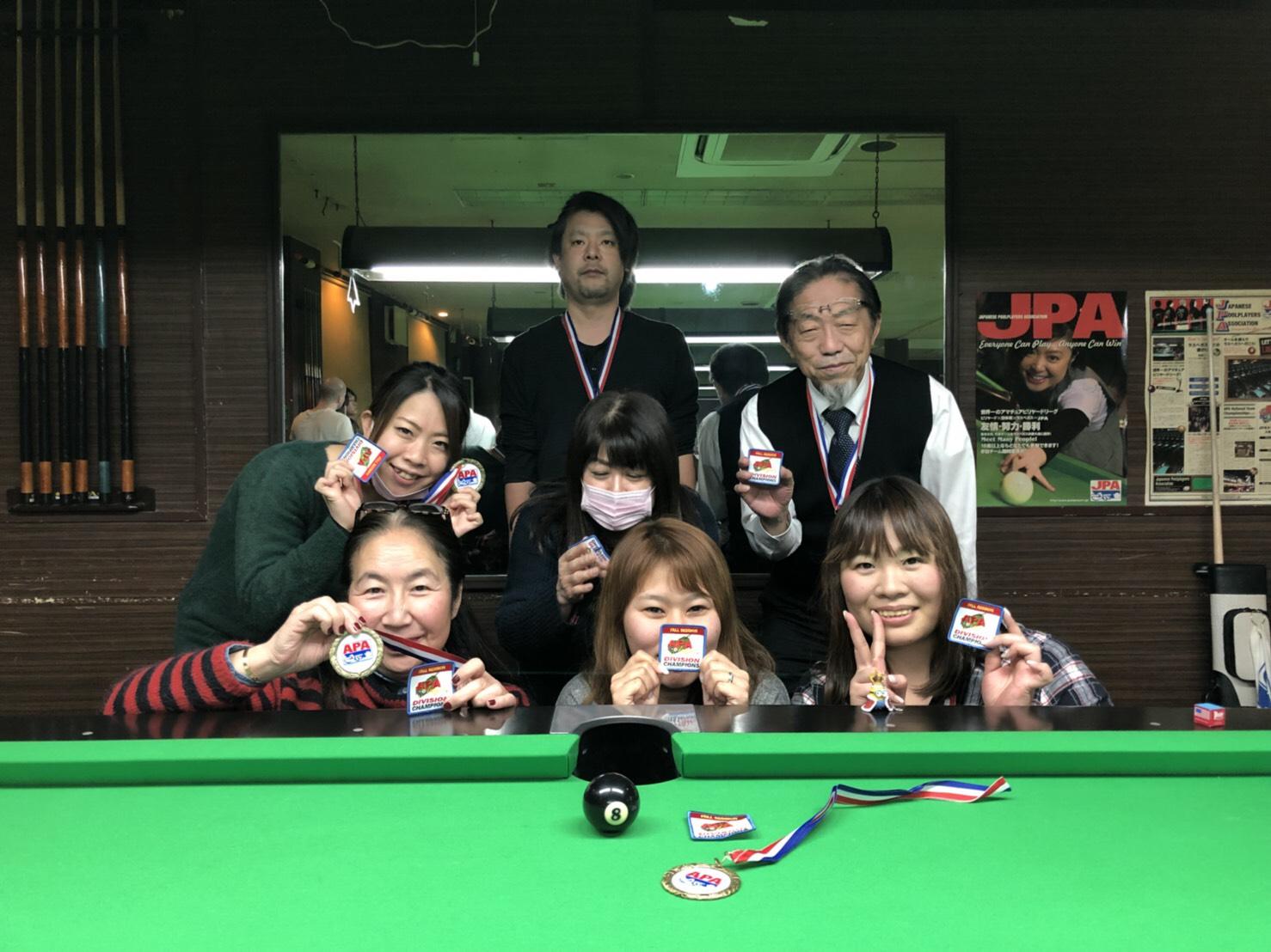 JPA's poolplayers blog: 秋のプレーオフウィーク、全日程終了!