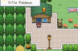 Pokemon Stone Dragon 1 para GBA Ash y Gary de Kanto en Villa Pokemon