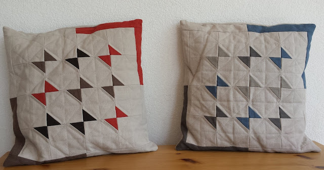 Luna Lovequilts - Butterfly cushions made by a student