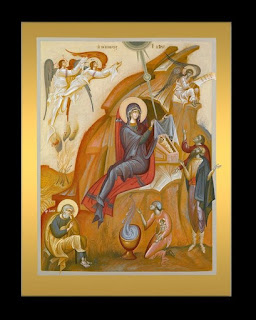 Nativity of Christ, icon by George Kordis.