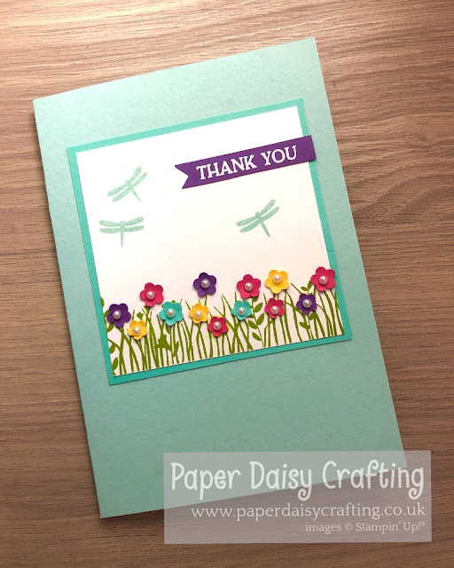 Field of Flowers Stampin Up card making