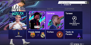 Download FIFA 21  for Android UCL Mod (Apk+Obb+Data) Latest Update ☯ Manager Mode Problem Fixed ☯ April 1st MOD 2021