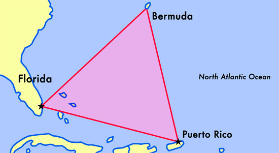 Triângulo das Bermudas Mapa