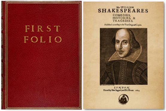 فيرست فوليو - First Folio: Comedies, Histories and Tragedies