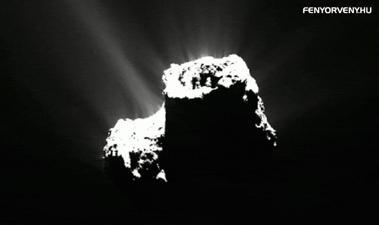 Először pillantottak meg sarki fényt egy üstökösön