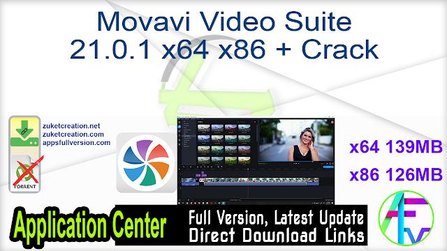 Movavi Video Suite 21.0.1 x64 x86 + Crack