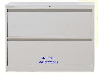 Tủ File Treo 2 Ngăn Kéo Ngang, Tủ sắt văn phòng
