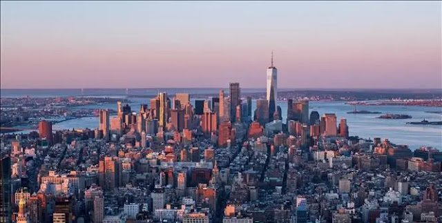View of Manhattan in New York, USA, April 3, 2021. Photo: AFP