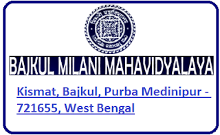 Bajkul Milani Mahavidyalaya, Kismat, Bajkul, Purba Medinipur - 721655, West Bengal