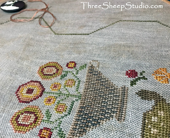'His eye is on the Sparrow' by Heartstring Samplery - stitched by Rose Clay