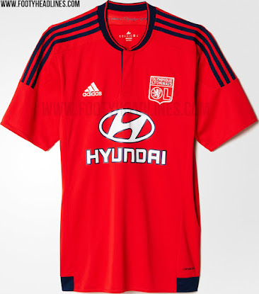 0baa5f23 Lyon 15-16 Home and Away Kits Revealed - Footy Headlines
