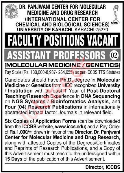 International Center for Chemical Job 2020 Karachi