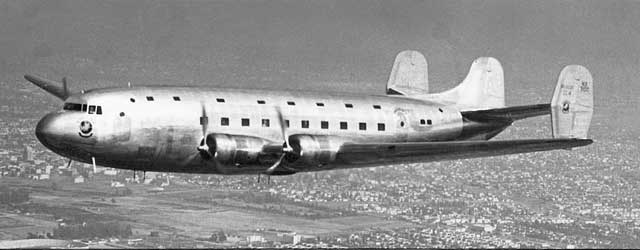 DC-4E, the C-54 version first flew on 14 February 1942, worldwartwo.filminspector.com