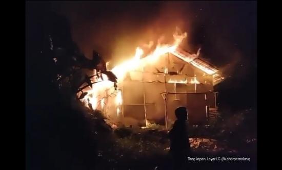 Kebakaran, Kebakaran Rumah, Nyalembeng, Tangkeban, Pulosari