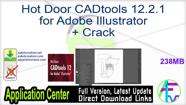 Hot Door CADtools 12.2.1 for Adobe Illustrator + Crack