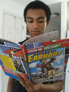 Grandson_Teen_Reading_Springbreak