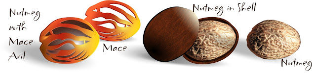 Nutmeg with Mace Aril and Without