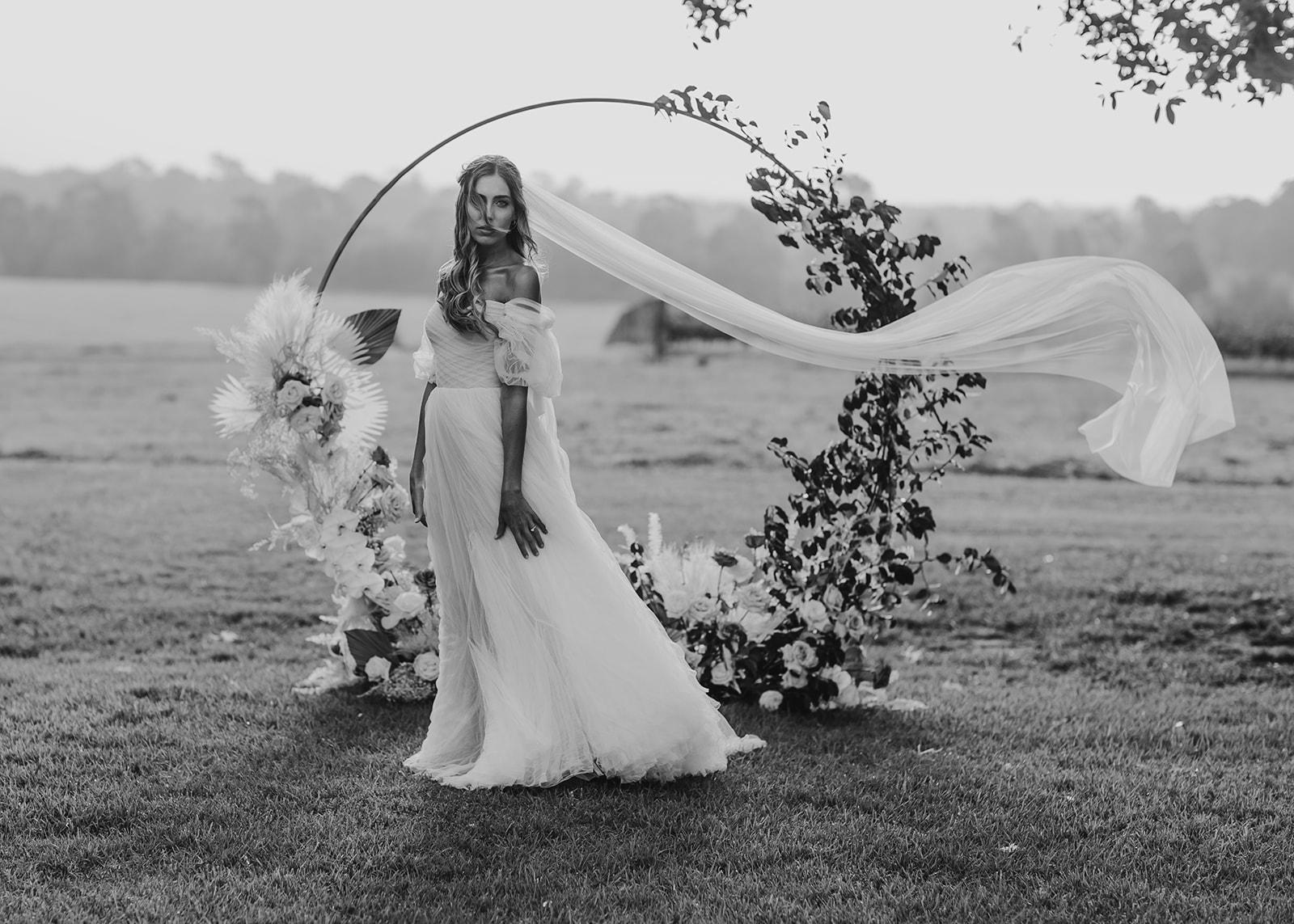 bohemian pastel pink floral bridal shoot newcastle weddings venue