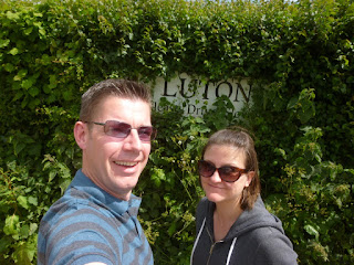Lutonians Richard and Emily Gottfried in Luton, Devon