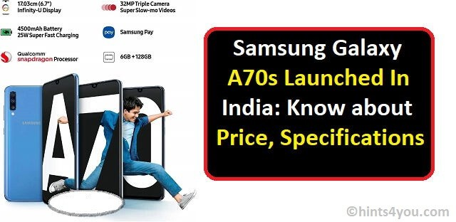 Samsung Galaxy A70s price and offers: