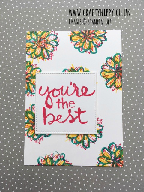 Learn how to create this gorgeous flower effect for all your greetings cards, scrabooking projects and home decor ideas.