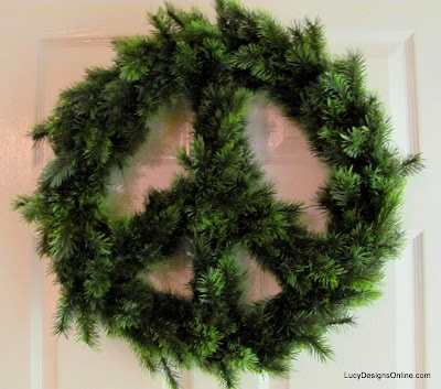 diy peace sign wreath
