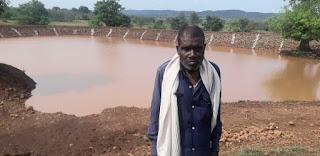 ग्राम कोटवार की शासकीय भूमि पर बन रहा तालाब