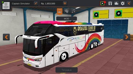 Livery SR2 XHD Scania K410 Putra Pelangi