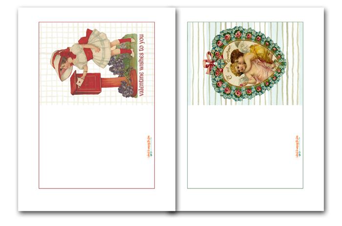 Vintage Valentine Card Printables